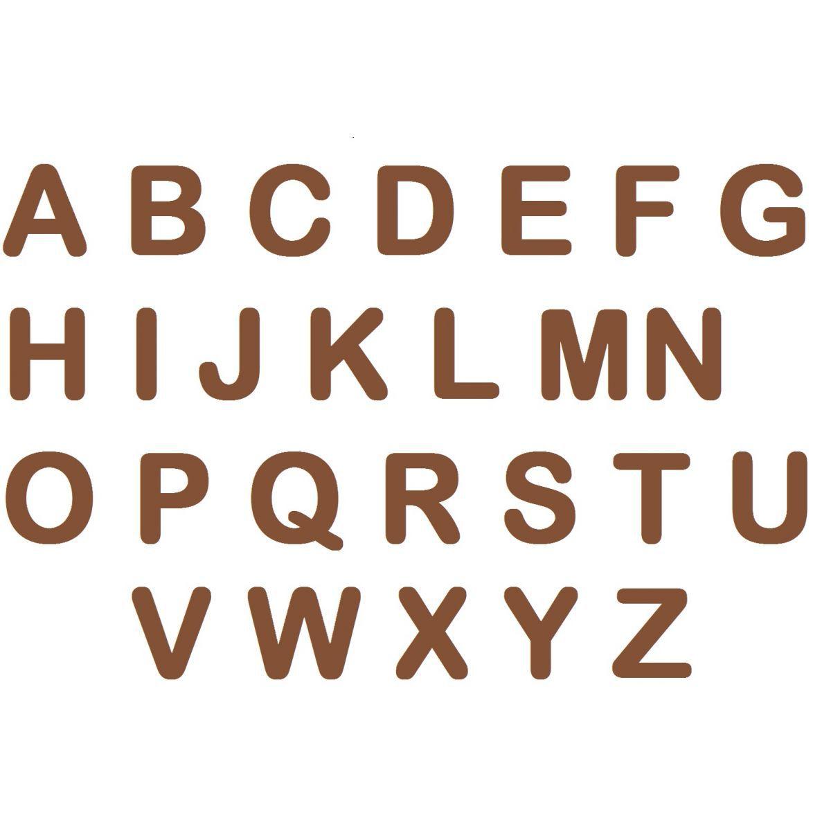 Letras em EVA - Marrom