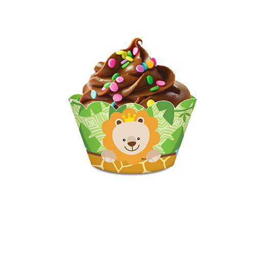 Porta Cupcake Bem Vindo a Selva c/8 unid.