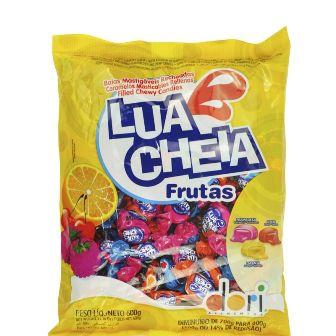 Bala Lua Cheia Mastigável Frutas - 600gr
