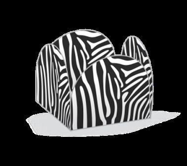 Porta Forminha Zebra - 50 unidades