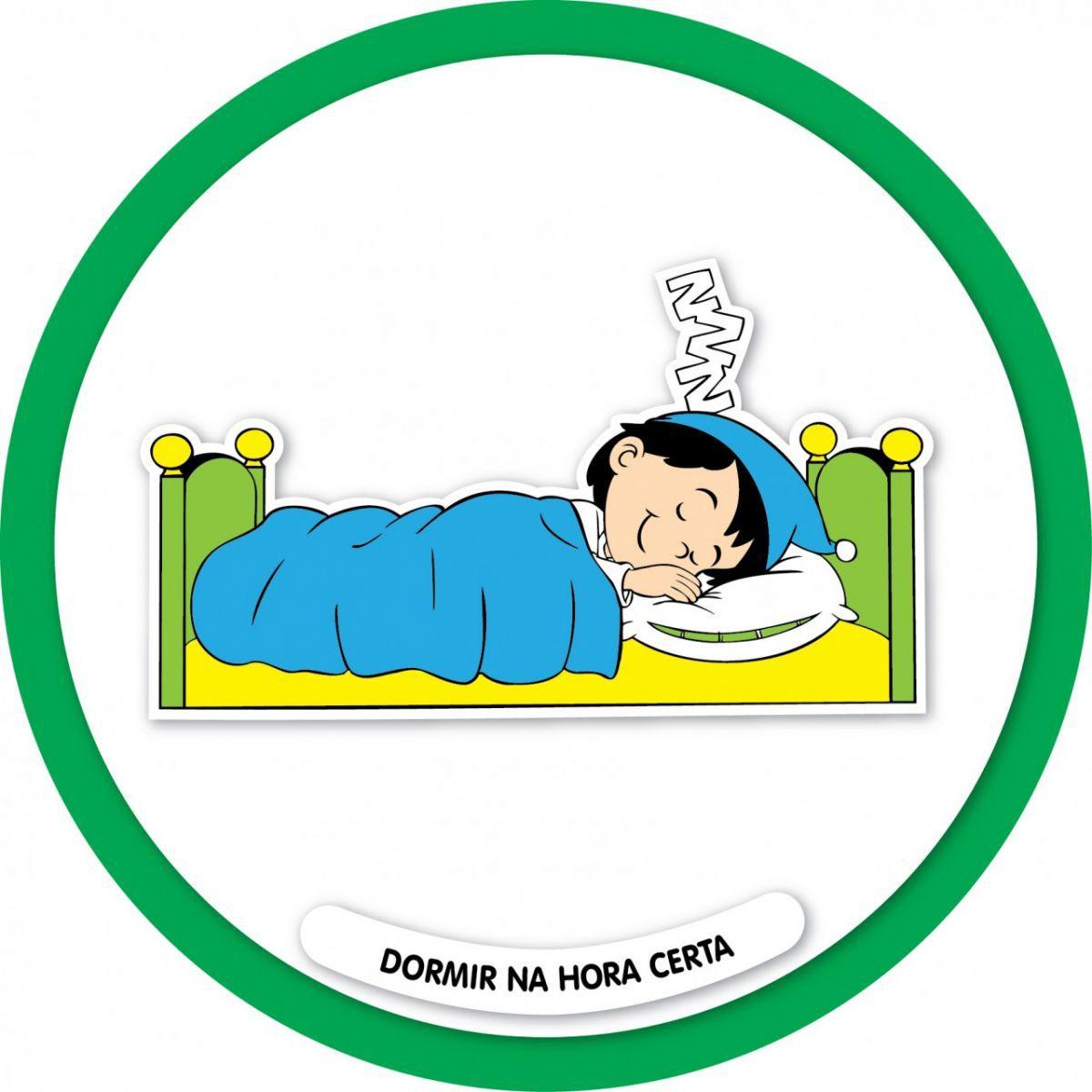 Placa Dormir na Hora Certa