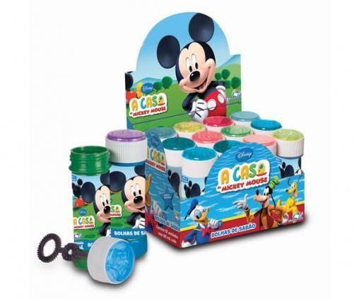Bolha de sabão Mickey - 12unidades