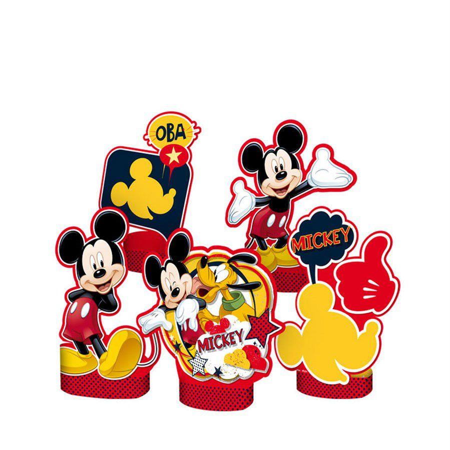 Decoração de Mesa Mickey Clássico - 5 Unidades