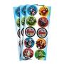 Adesivo Redondo Vingadores - 30 unidades