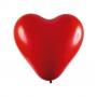 Balão Coração Vermelho 6 Polegadas - 50 unidades