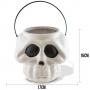 Balde Cabeça de Esqueleto Branco