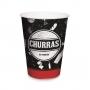 Copo de Papel Churrasco - 240ml - 8 Unidades