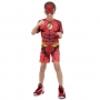 Fantasia Flash Infantil Curta com Músculos e Máscara