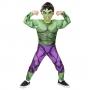 Fantasia Hulk Infantil Luxo com Músculos e Máscara