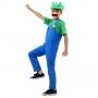 Fantasia Luigi Infantil Luxo com Chapéu e Bigode