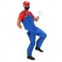Fantasia Mario Adulto com Chapéu Bigode e Luva