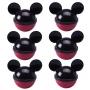 Mini Pote Porta Mix Orelha Mickey - 6 unidades
