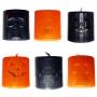 Mini Vela com LED Colorido Halloween - 6 Unidades