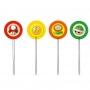 Picks Decorativos Super Mario - 12 Unidades