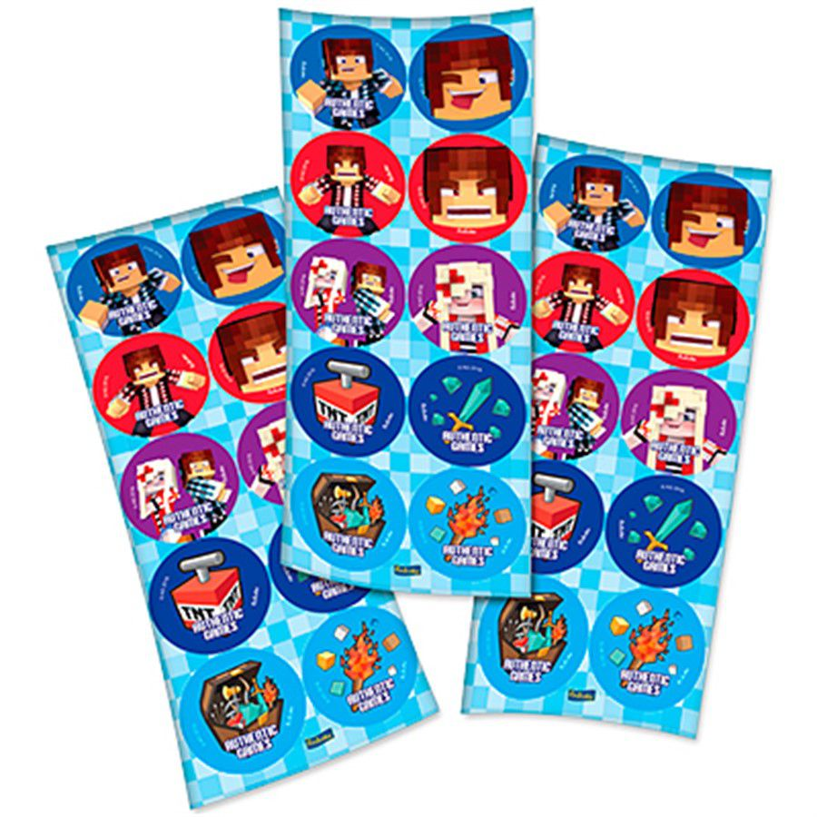 Adesivo Redondo Authentic Games - 30 unidades