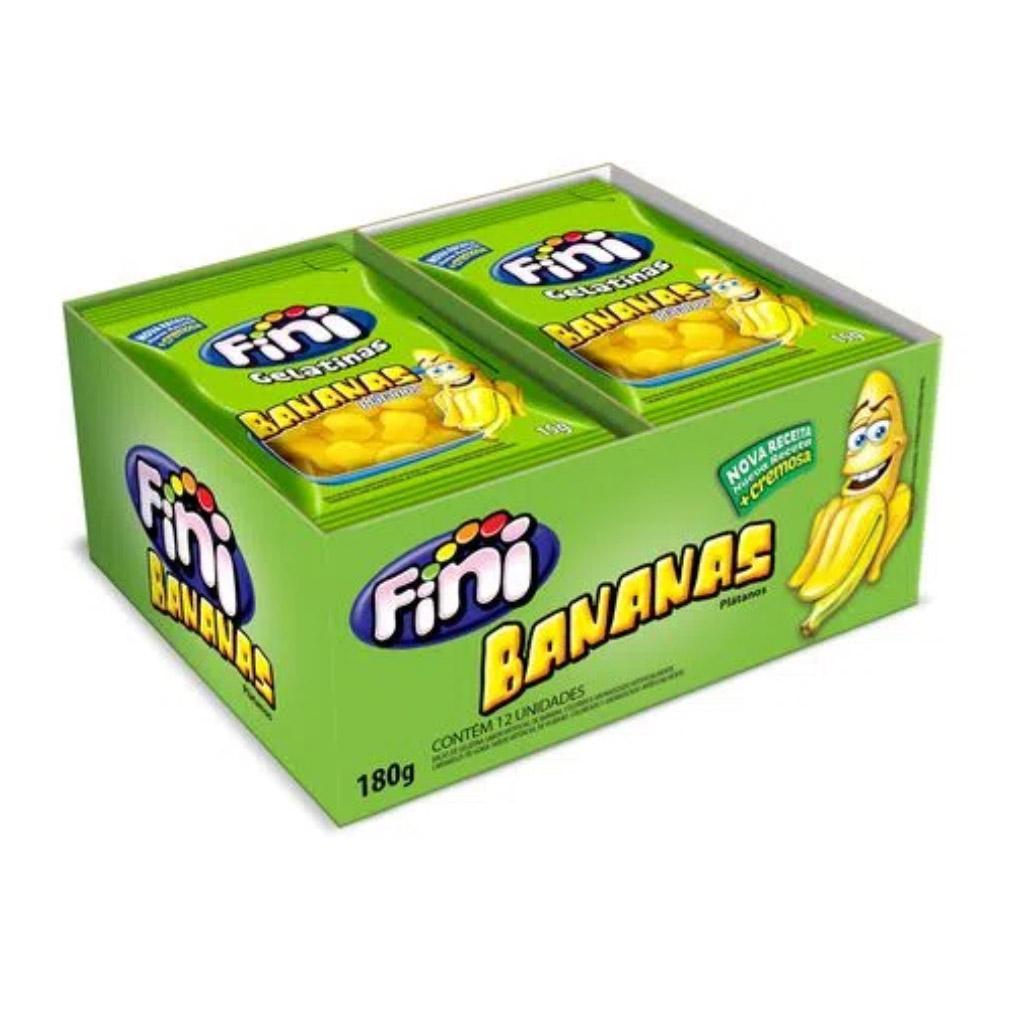 Bala de Gelatina Banana Fini - 180g