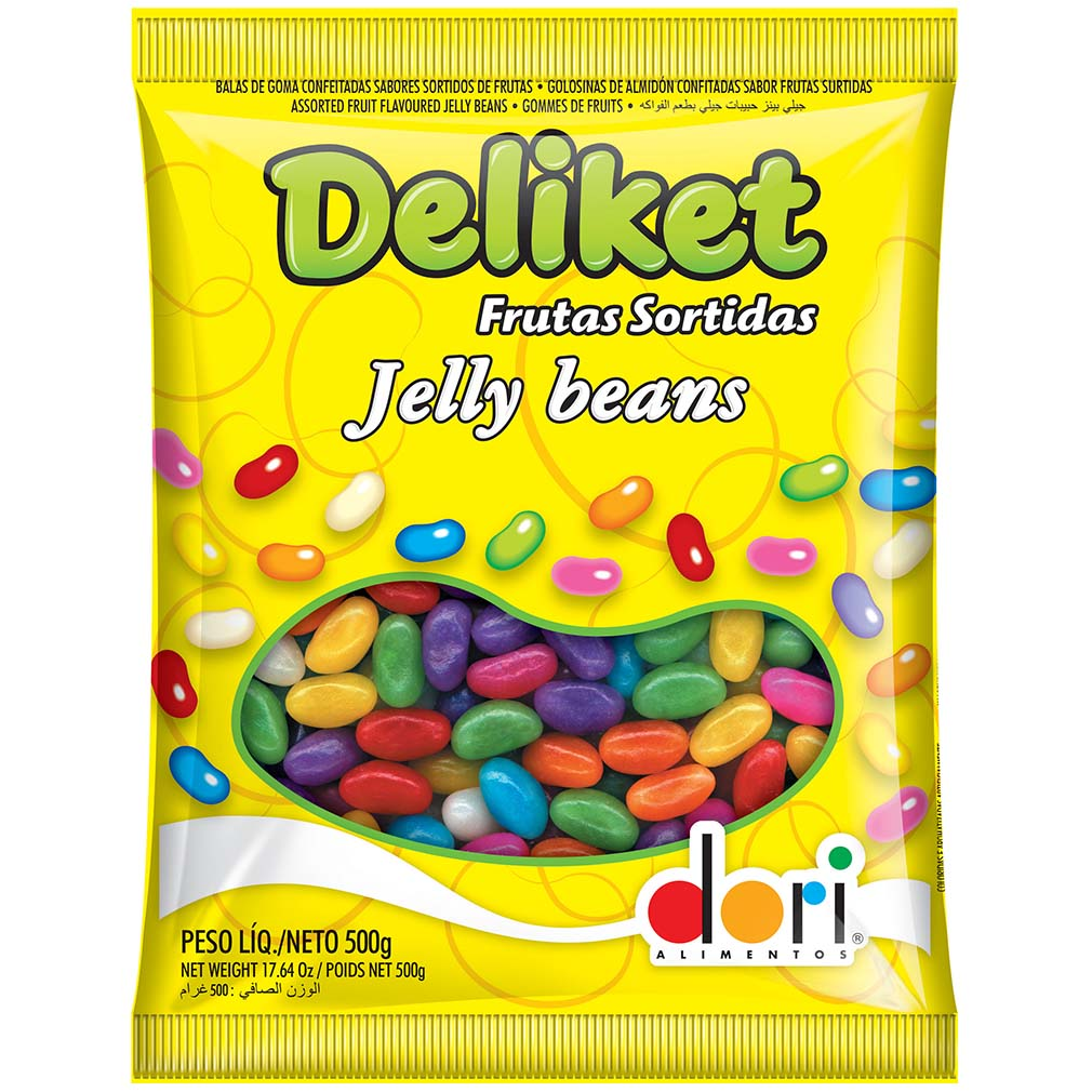 Bala de Goma Deliket Jelly Beans - 500g