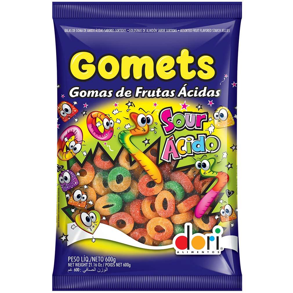 Bala de Goma Gomets Anel Ácido - 600g