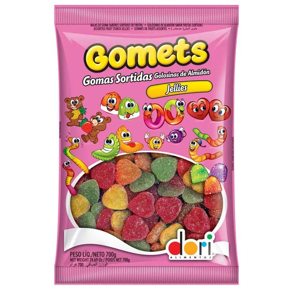 Bala de Goma Gomets Coração de Frutas - 700g