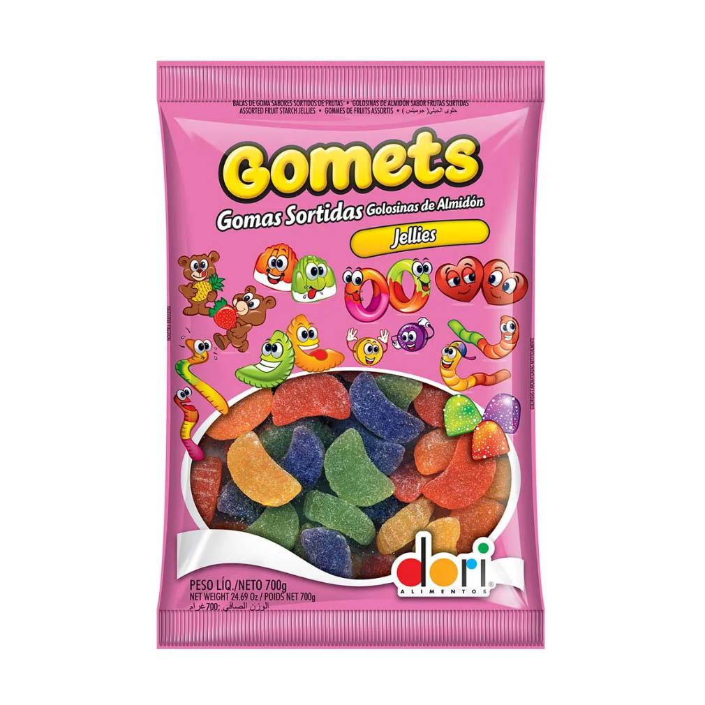 Bala de Goma Gomets Gomo de Frutas - 700g