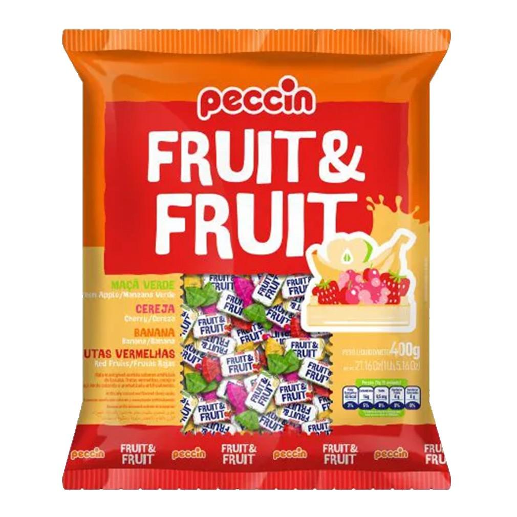 Bala Mastigável Fruit e Fruit Sortida - 400g