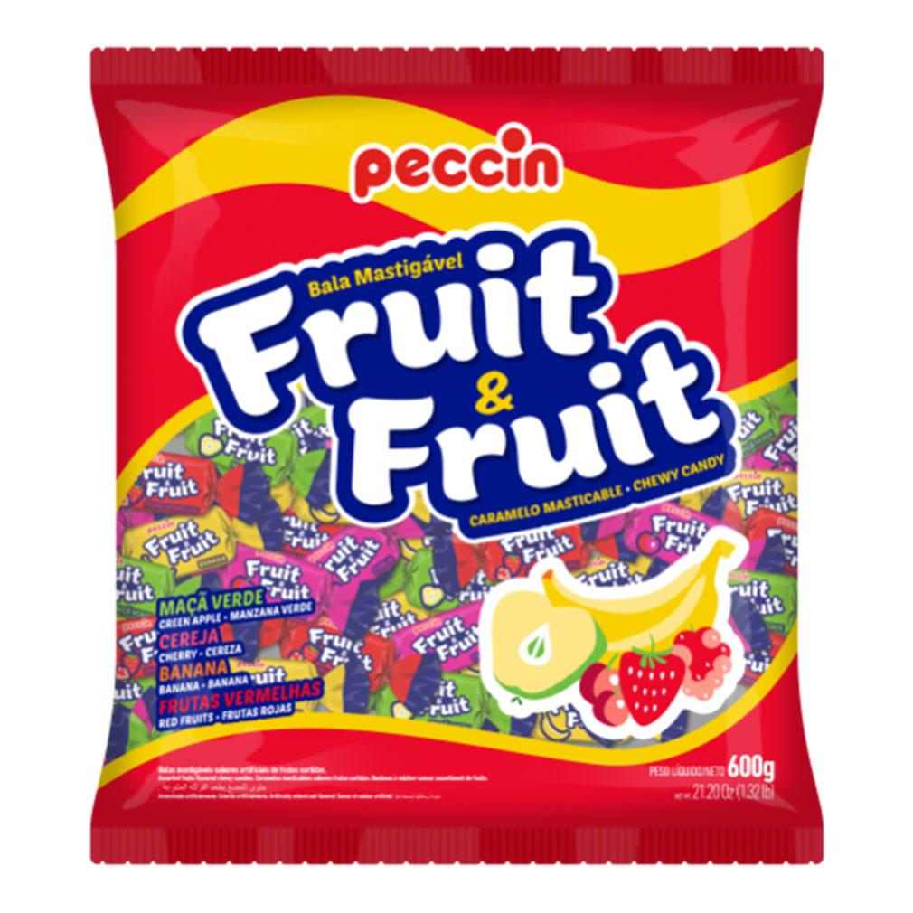 Bala Mastigável Fruit e Fruit - 600g