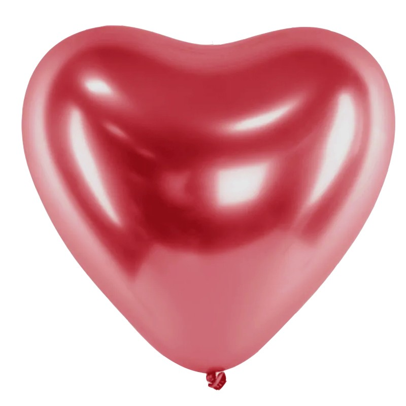 Balão Alumínio Coração Vermelho - 11 Polegadas - 6 unidades