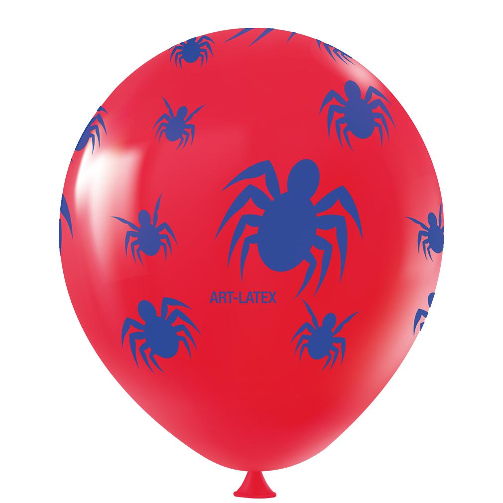 Balão Aranha Vermelho e Azul - 11 Polegadas - 25 unidades