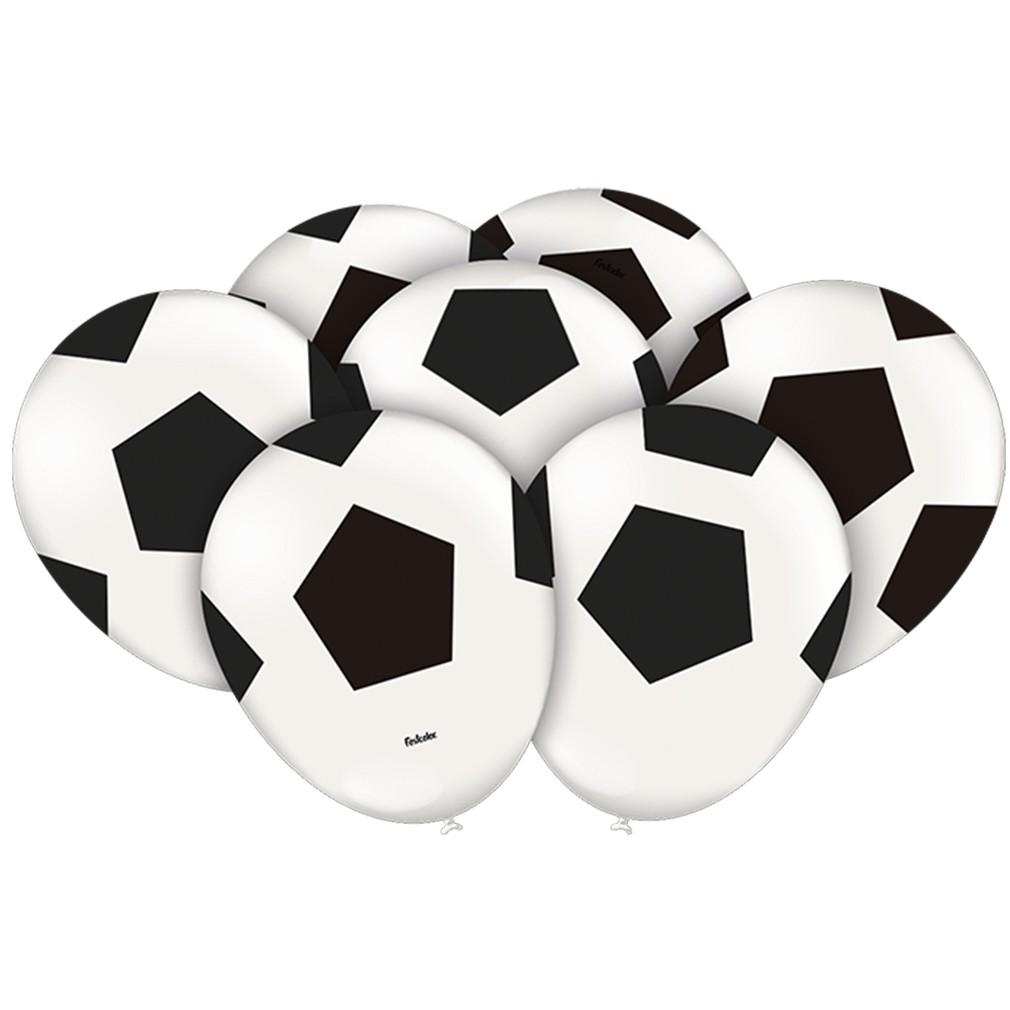 Balão Bola de Futebol - 9 Polegadas - 25 Unidades