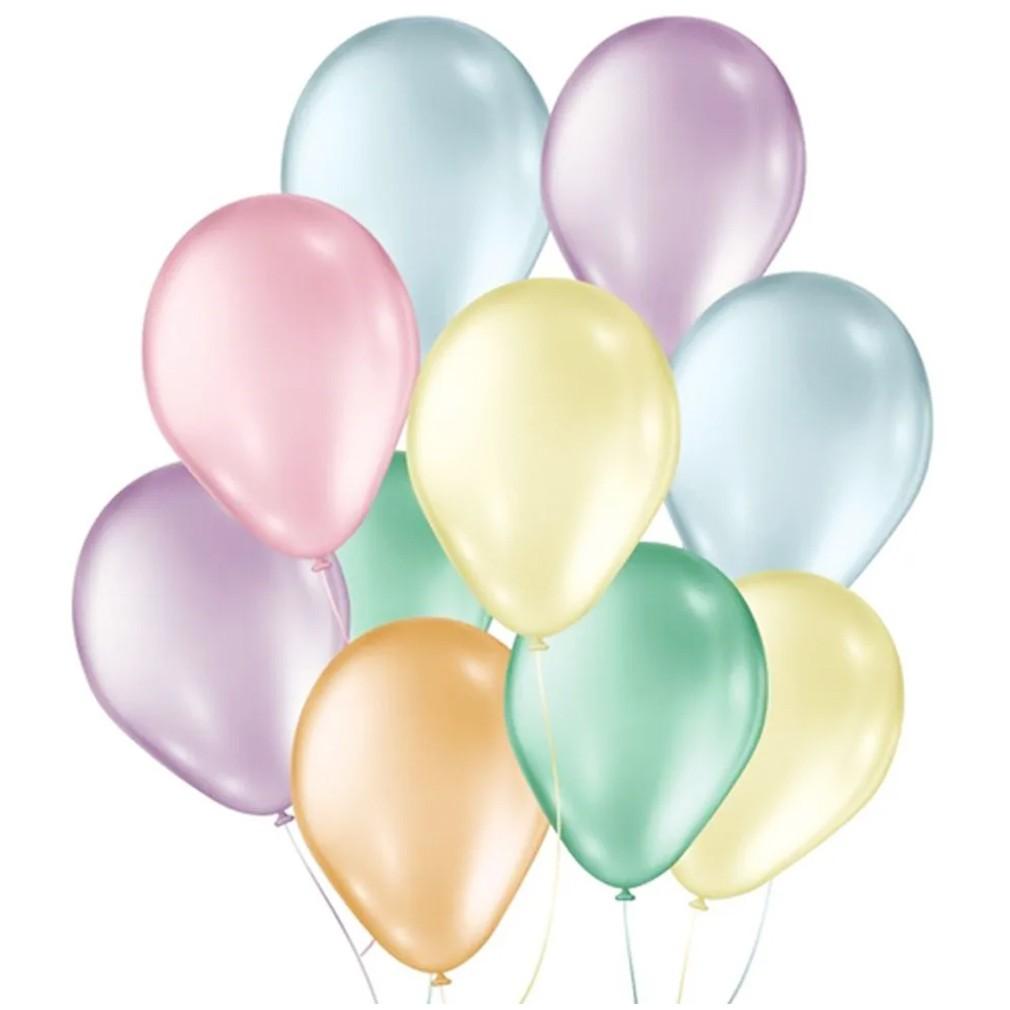 Balão Candy Colors Sortido - 9 Polegadas - 50 Unidades