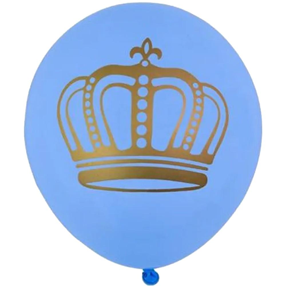 Balão Coroa Azul - 11 Polegadas - 25 Unidades