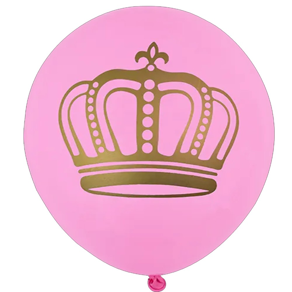 Balão Coroa Rosa - 11 Polegadas - 25 Unidades