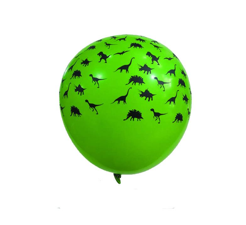 Balão de Dinossauro Verde - 25 unidades