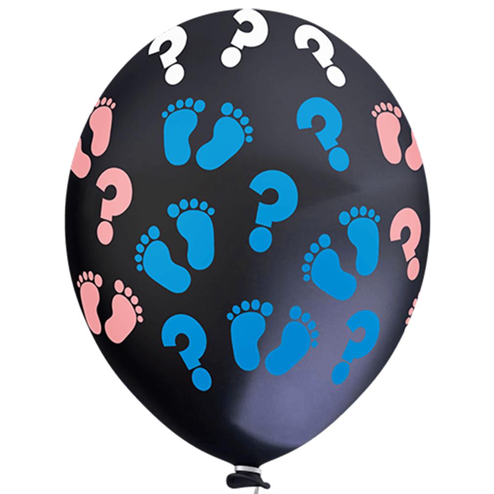 Balão Estampado Chá Revelação Preto - 11 Polegadas - 25 Unidades