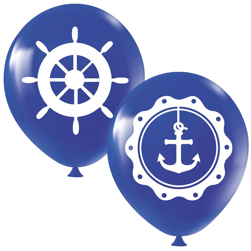 Balão Estampado Marinheiro Azul - 11 Polegadas - 25 Unidades