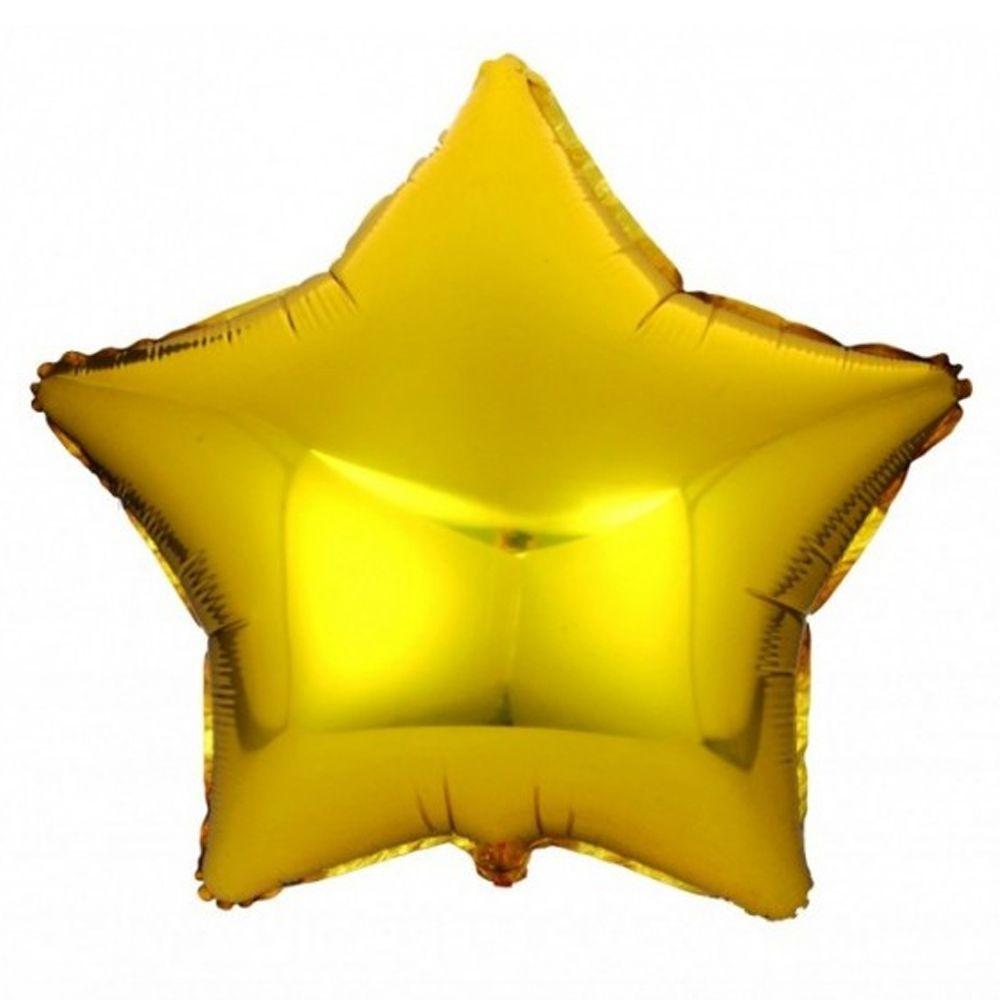 Balão Estrela Metalizado Dourado