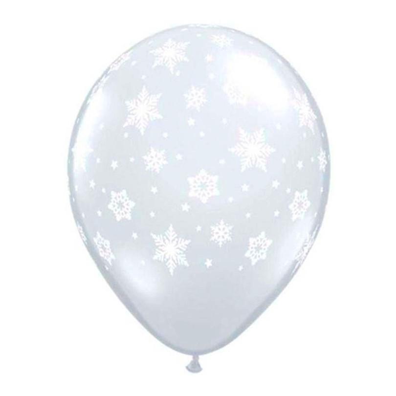 Balão Flocos de Neve Cristal - 25 unidades