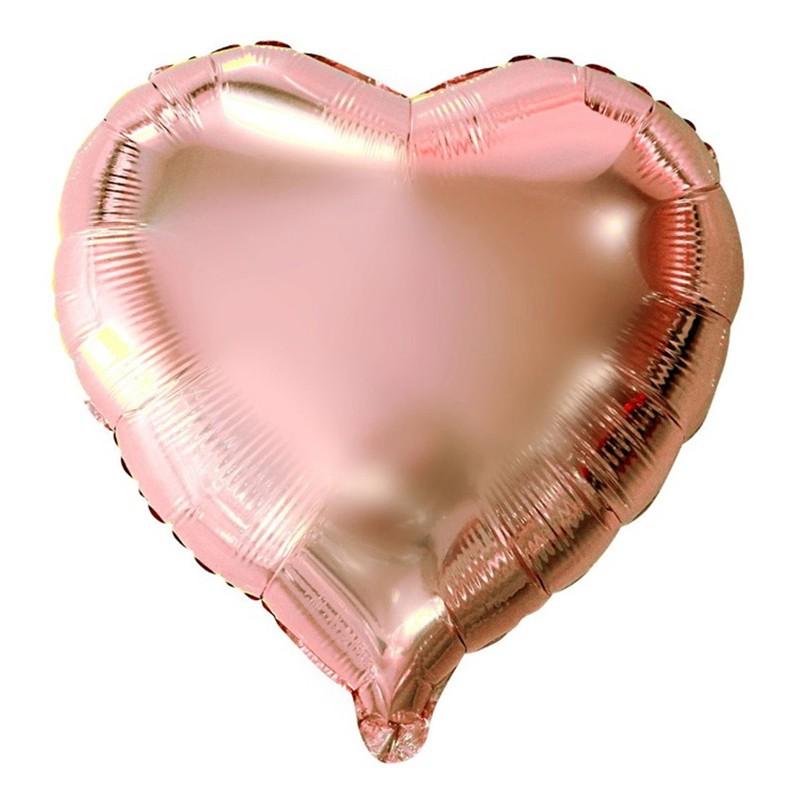 Balão Metalizado Coração - Rose Gold - 10 Polegadas