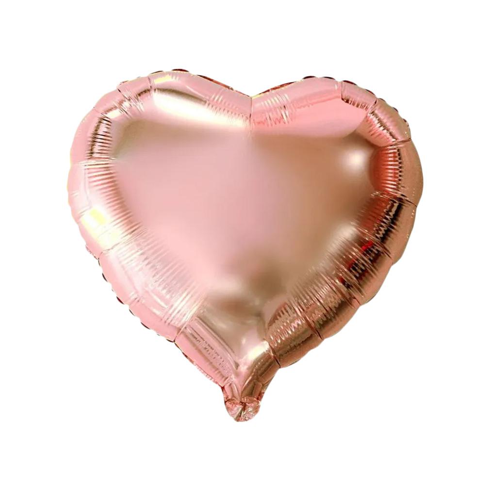 Balão Metalizado Coração Rose Gold - 10 Polegadas