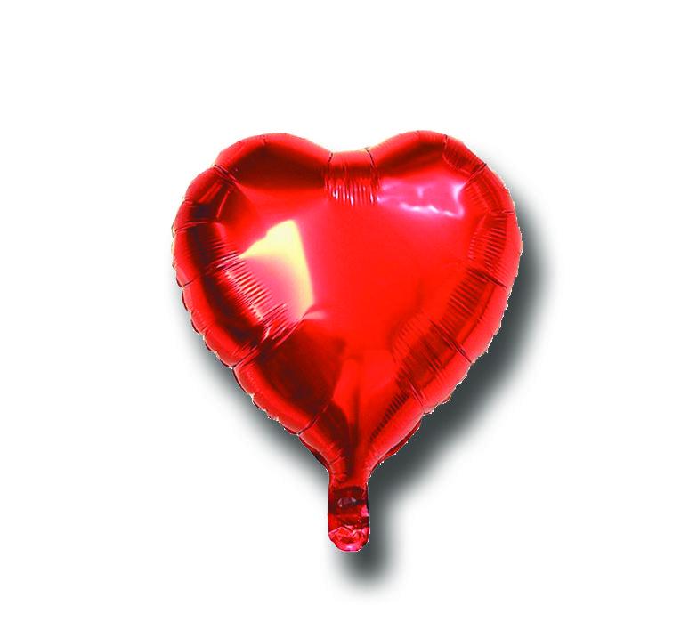 Balão Metalizado Coração Vermelho - 18 Polegadas