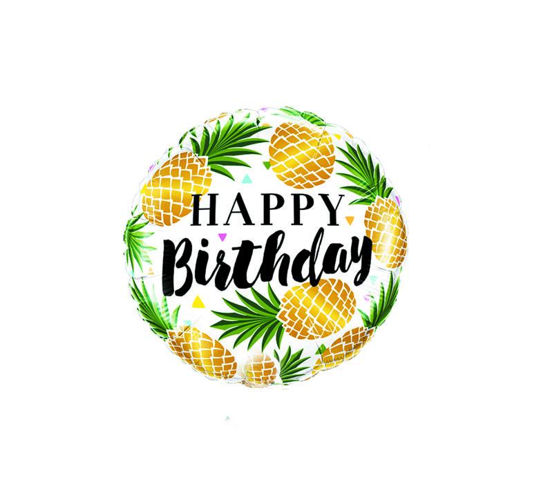 Balão Metalizado Happy Birthday