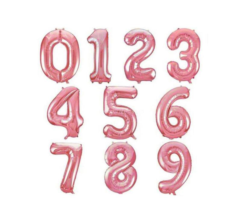 Balão Metalizado Número Rose Gold - 1 metro
