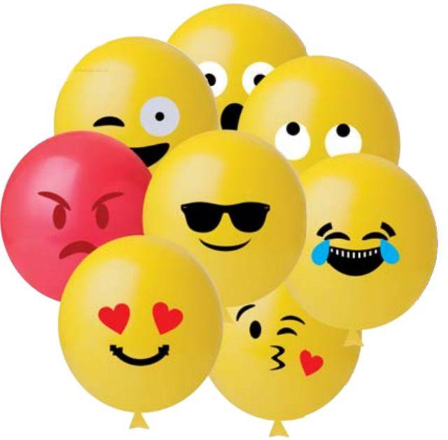 Balão Emojis - 25 unidades