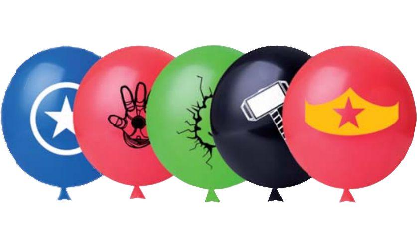 Balão Super Heróis com 25 unidades