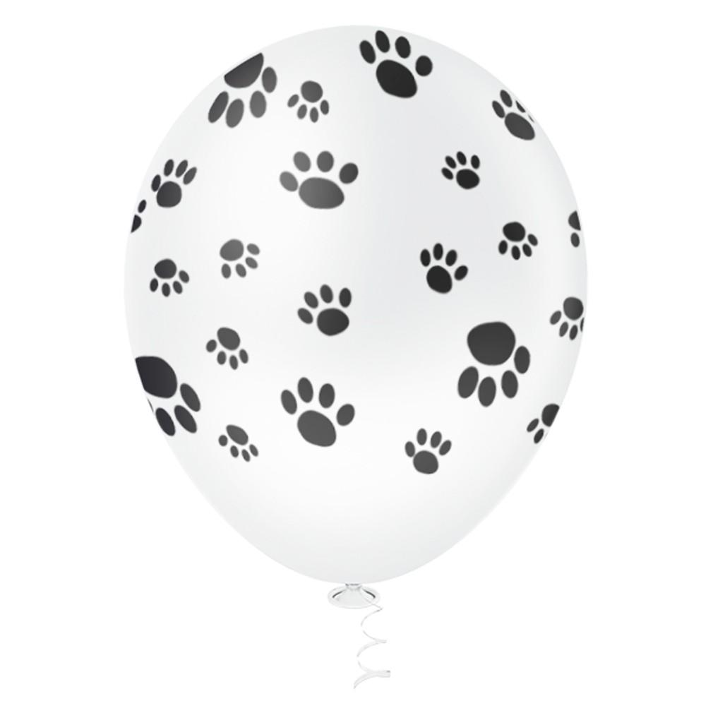 Balão Patinhas de Cachorro - 11 Polegadas - 25 Unidades