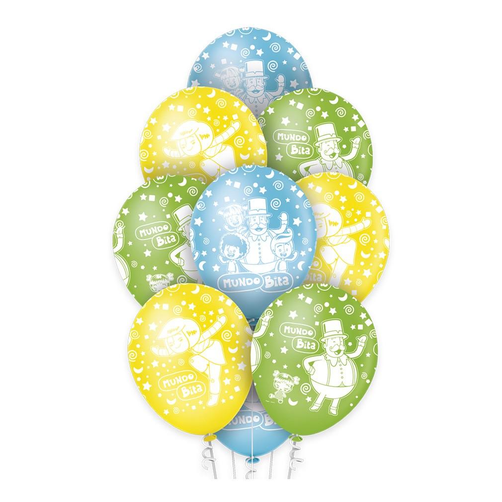 Balão Mundo Bita Premium - 12 Polegadas - 10 Unidades