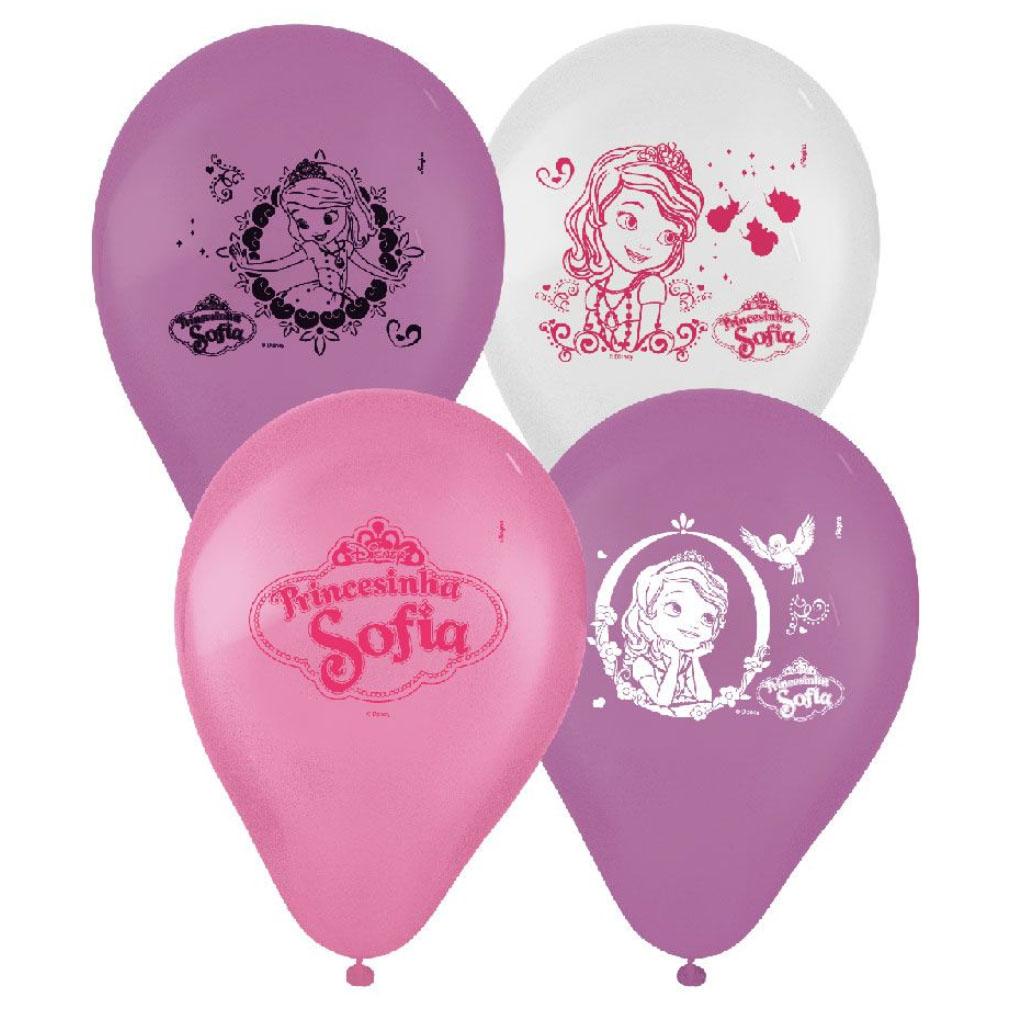Balão Princesa Sofia - 9 Polegadas - 25 Unidades