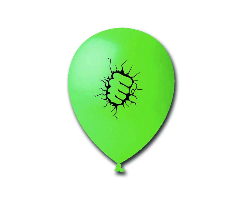 Balão Punho Hulk - 25 unidades