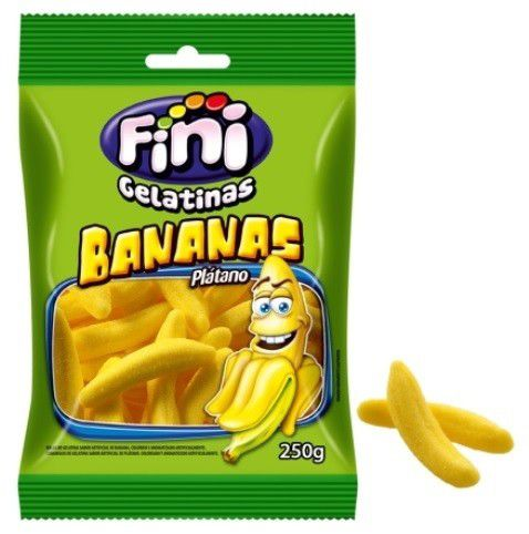 Balas de Gelatina Bananas - 250g