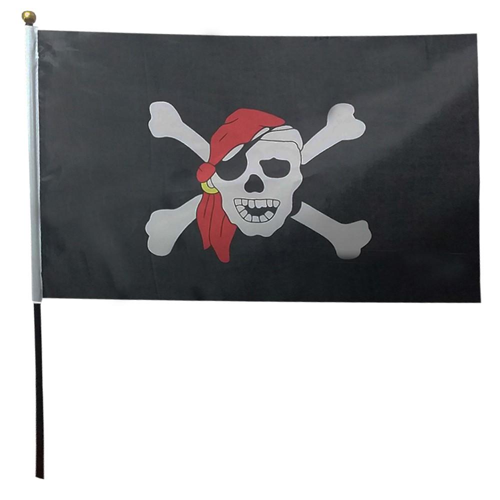 Bandeira Pirata com Haste